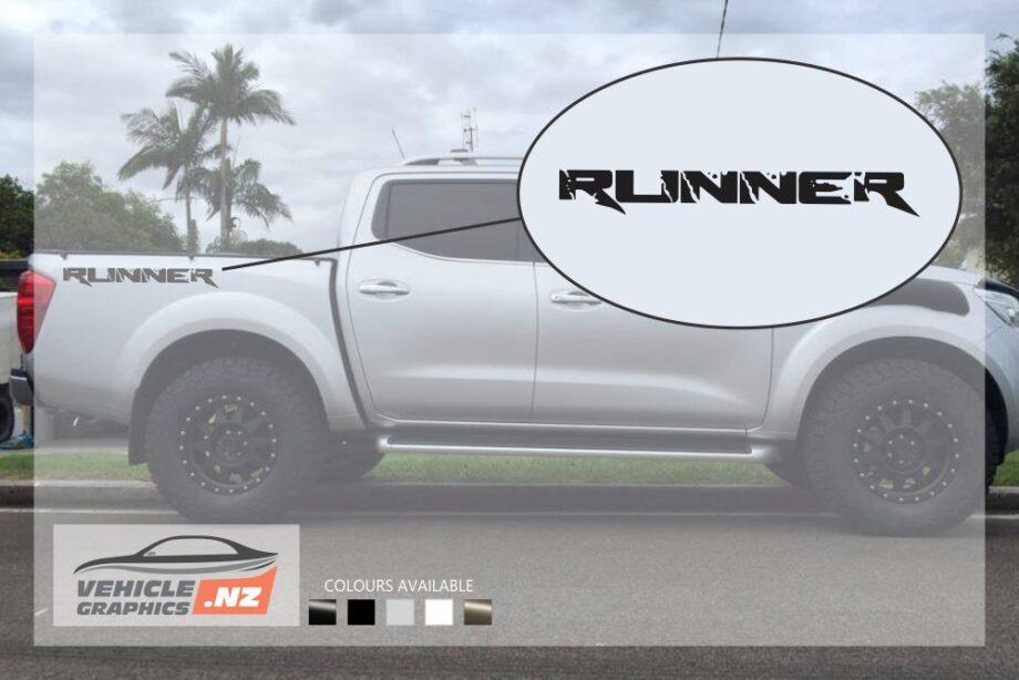 Nissan Navara Runner Side Bed Decals