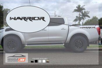 Nissan Navara Warrior Side Bed Decals