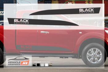 Nissan Navara Black Edition Side Stripes