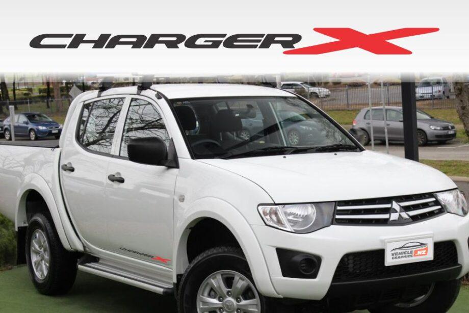 Mitsubishi Triton Charger X Decals