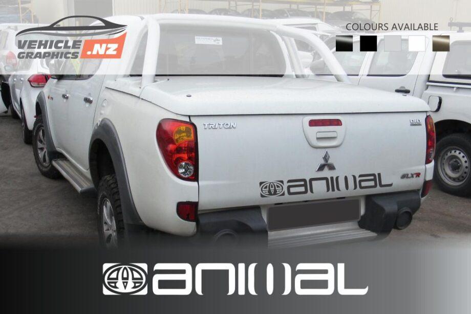 Mitsubishi Animal Tailgate Decals