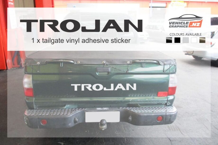 Mitsubishi Trojan Tailgate Decal