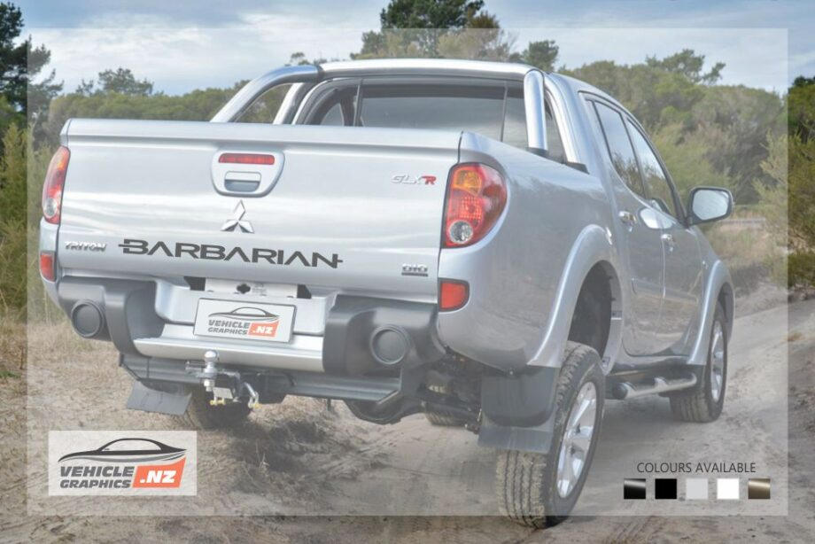 Mitsubishi Barbarian Tailgate Decal